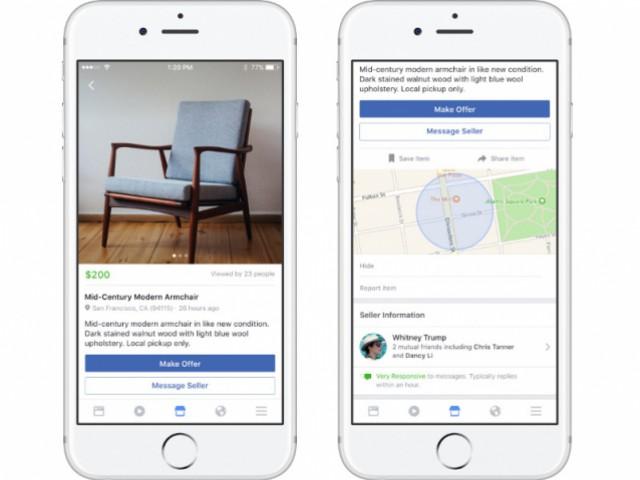 Facebook Marketplace, le nouveau service de vente