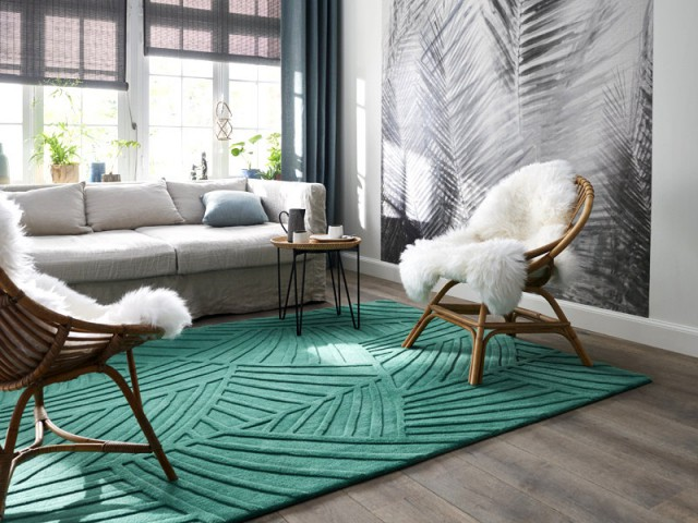 Un tapis tape-à-l'oeil pour un salon élégant