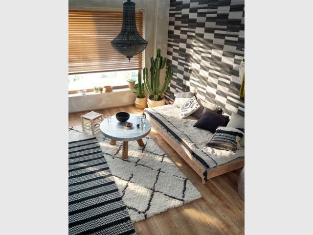 1 tapis dans mon salon 12 photos pour vous inspirer. Black Bedroom Furniture Sets. Home Design Ideas