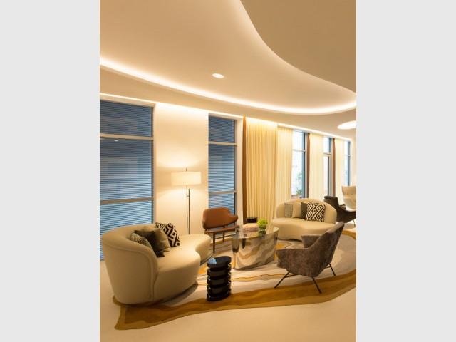 Un tapis organique pour un salon luxueux