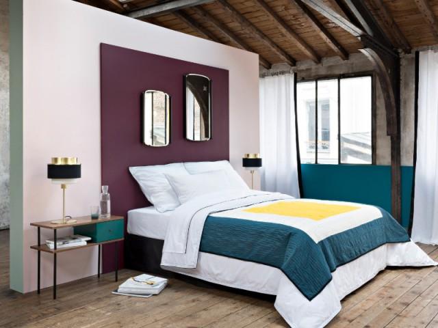 Collection Sarah Lavoine et tête de lit en peinture bordeaux