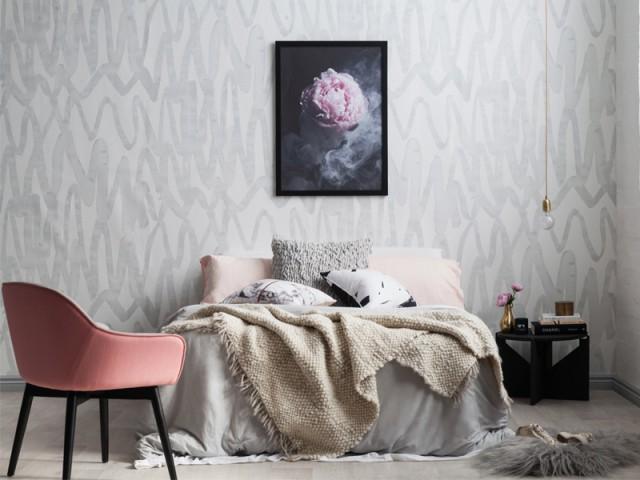 Un fauteuil rose pour une chambre moderne  - Inpiration couleur : Osez le rose !