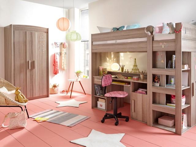 Un parquet peint en rose pour une chambre éclatante - Inpiration couleur : Osez le rose !