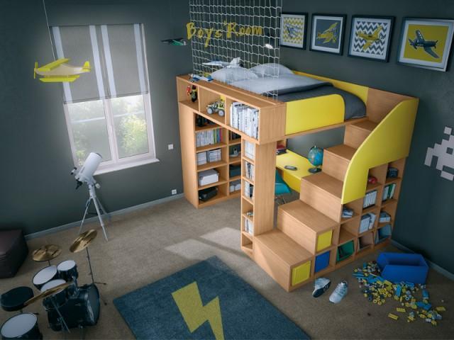 Mezzanine pour optimiser l'espace