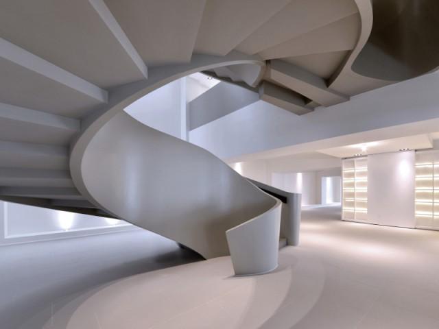 Ribbon House : Au sous-sol, la naissance de l'escalier hélicoïdal