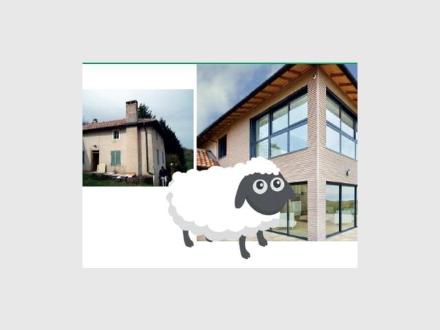 Transformation d'une grange en maison