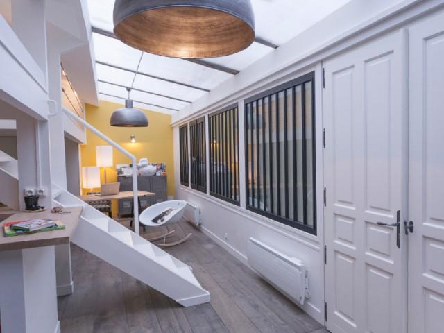 Ll'atelier assaini est devenu un loft moderne