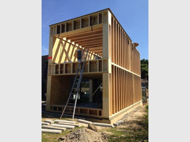 Une ossature bois pour une extension