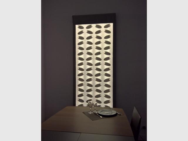 Un panneau à la fois fonctionnel et décoratif - Le tissu lumineux à la conquête des intérieurs