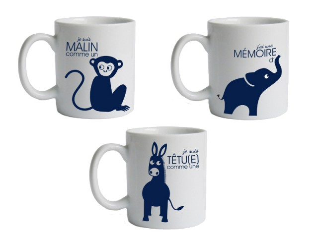 Des mugs aux couleurs des animaux : 12,90 €