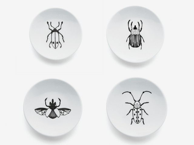 Un set d'assiettes à pain insectes : 12,99 €