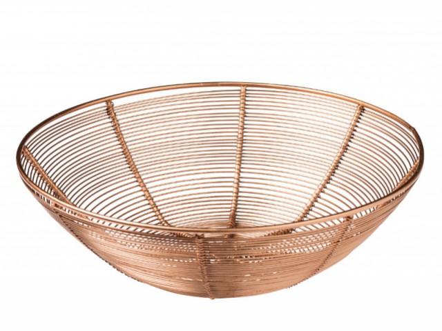 Une coupelle en métal cuivré : 9,90 €