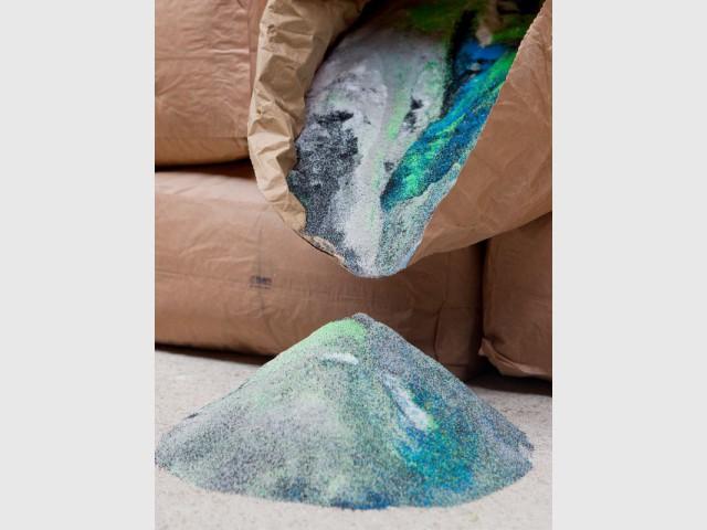 Une poudre ultra-colorée ... pour des assises acidulées - Maximum, l'art de recycler les déchets industriels