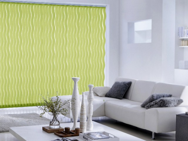 Tendance Greenery : un store vert dans mon salon blanc
