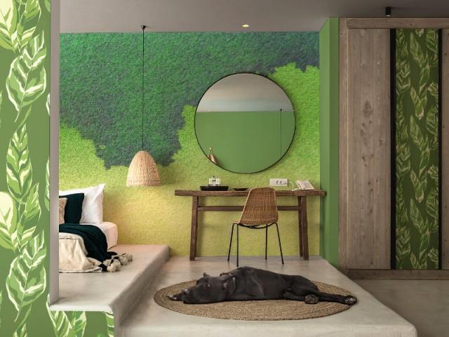 Tendance Greenery : murs verts pour une chambre parentale