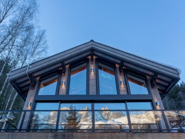 1 chalet modernis devient miroir du mont blanc for Chauffer un garage non isole