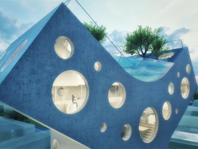 Y House : une piscine suspendue - Y House