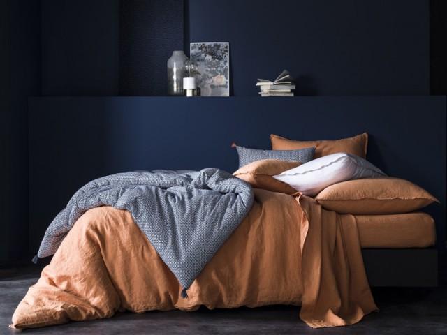 Du bleu et du orange pour mon linge de lit