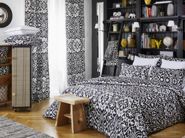 Mon linge de lit en noir et blanc