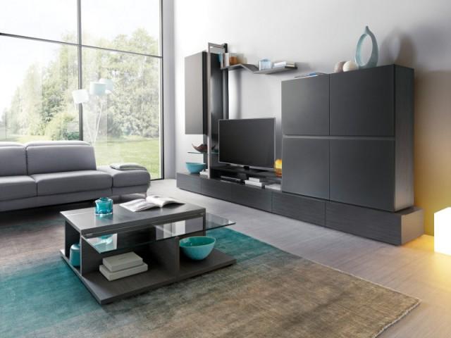 Une télé qui se confond avec les meubles