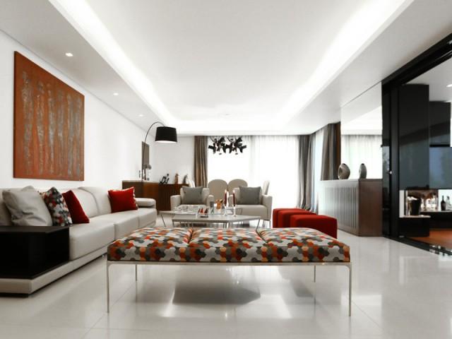 Une pièce à vivre luxueusement meublée - Un rez-de-jardin aussi lumineux qu'une maison