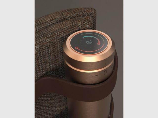 """Le radiateur """"Natte"""", tubes verticaux chauffants et bandes textiles - Le radiateur du futur"""