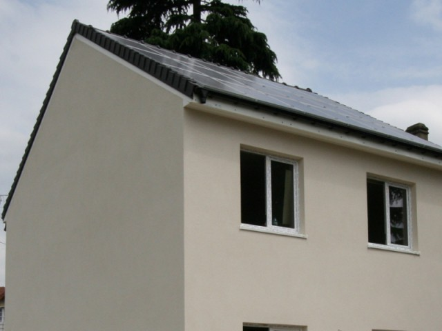 Un système de panneaux photovoltaïques