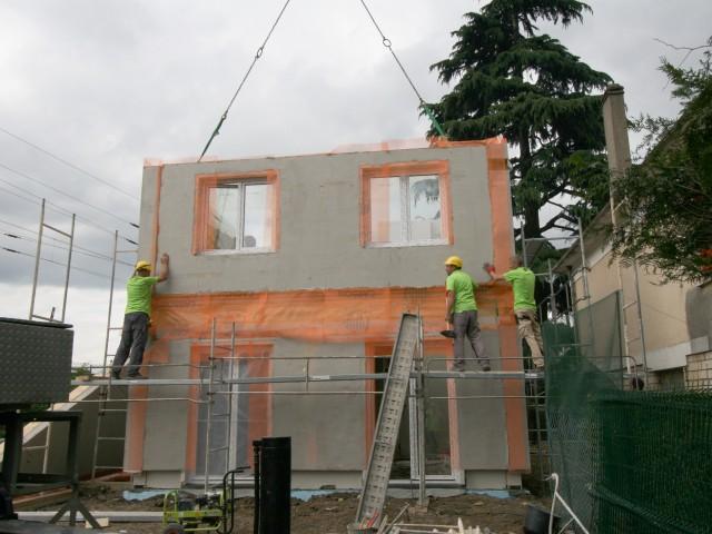 Une maison érigée en une journée