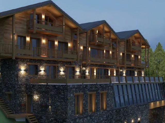 Réalisation d'une maison d'hôtes de luxe éco-construite, la Datcha Val Thorens (Savoie)