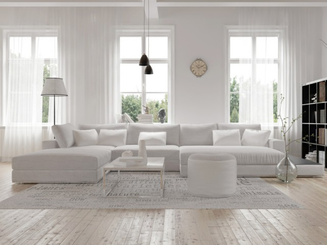 Total look blanc dans nos intérieurs