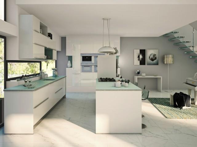 Du blanc dans la cuisine américaine pour une pièce élégante - Total look blanc dans nos intérieurs