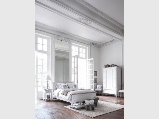 Du blanc dans la chambre parentale pour un intérieur de style - Total look blanc dans nos intérieurs