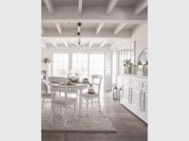 Du blanc dans la salle à manger pour une pièce lumineuse - Total look blanc dans nos intérieurs