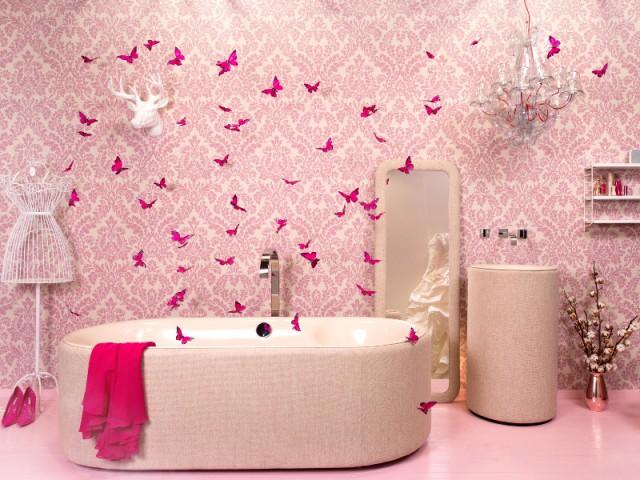 Une salle de bains comme un boudoir