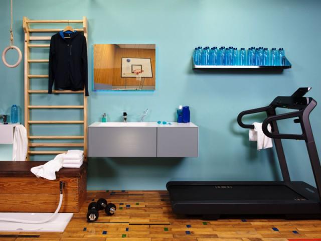 Une salle de bains comme une salle de sport
