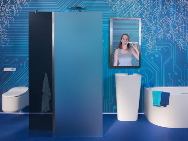 Une salle de bains comme un concentré de high-tech
