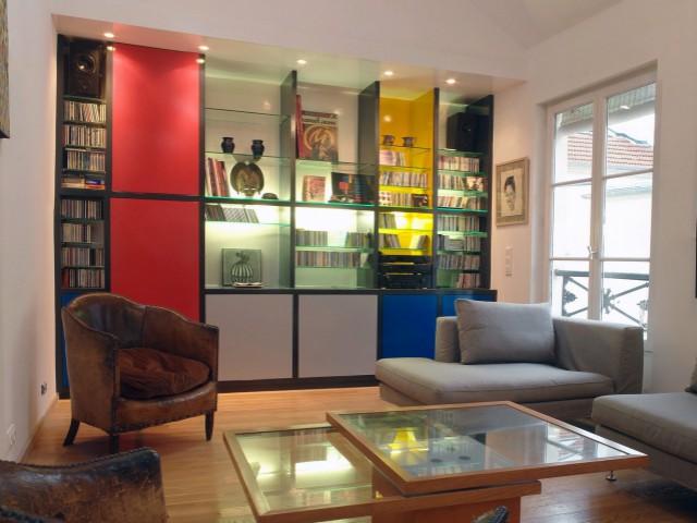 Une bibliothèque façon Mondrian