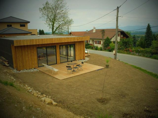 Une maison entièrement recyclable