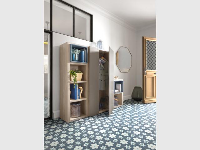 Pour souligner un hall d'entrée, un sol avec des carreaux de ciment - Les carreaux de ciment investissent votre maison