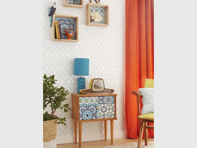 Pour les meubles, un manteau en carreaux de ciment - Les carreaux de ciment investissent votre maison