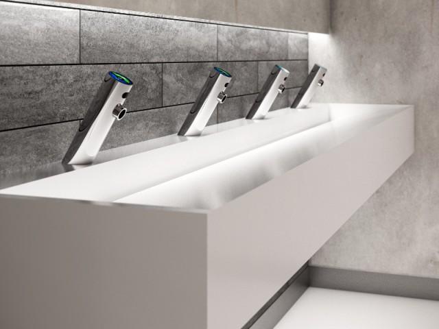 Un robinet qui distribue de l'eau... et du savon !