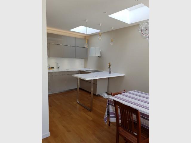 Une nouvelle cuisine lumineuse et spacieuse