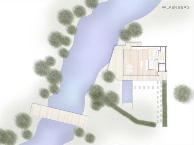 Une maison transparente au coeur de la forêt
