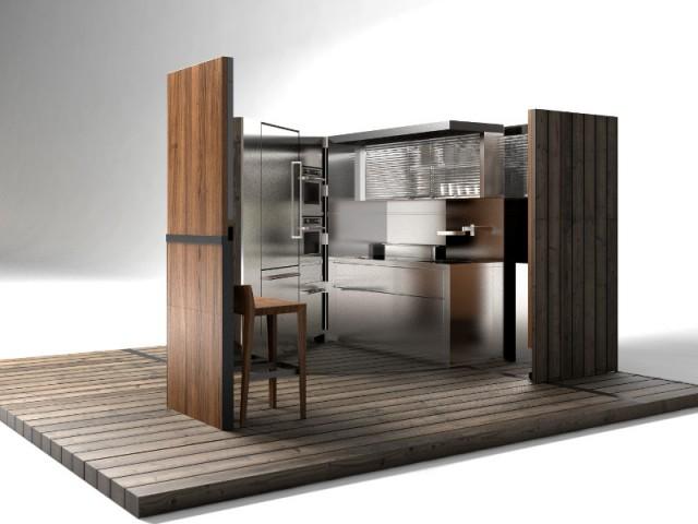 Une cuisine comme une boîte compacte