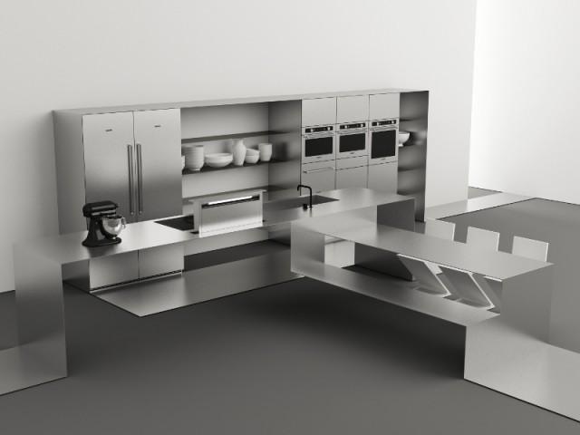 Une cuisine agrémentée d'un ruban fonctionnel