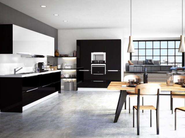 Le noir et le blanc pour une cuisine contrastée