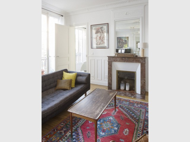 Un salon lumineux et valorisé par le mobilier