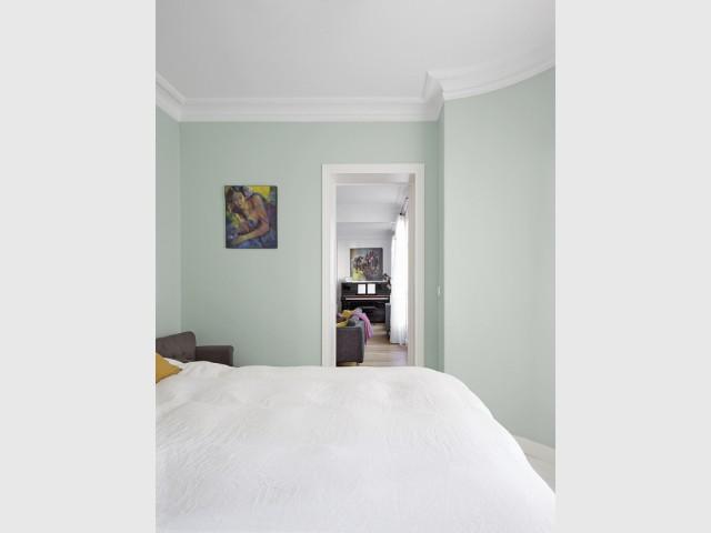 Un vert d'eau pour les murs de la chambre