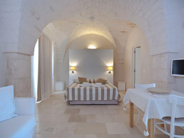 Gîte rural dans les Pouilles (Italie) : les chambres - Gîte rural au cœur du maquis d'Ostuni (Italie)