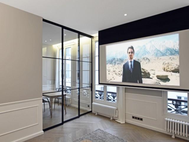 Un salon avec option Home cinéma